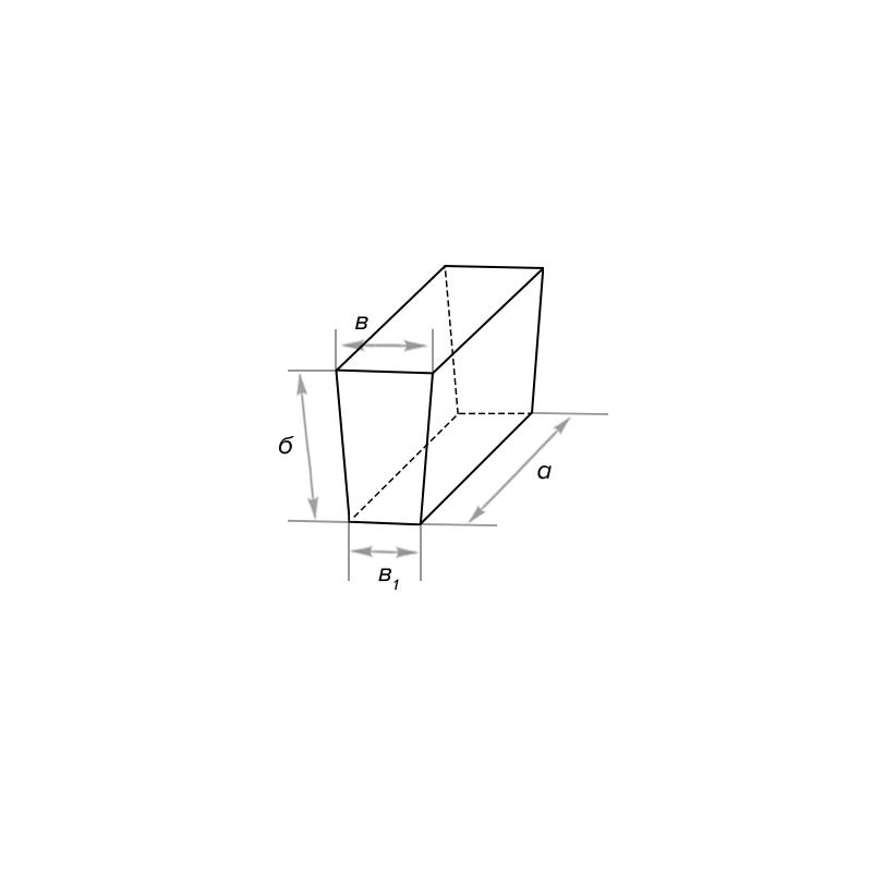 Клин шамотный ребровой двухсторонний, и односторонний