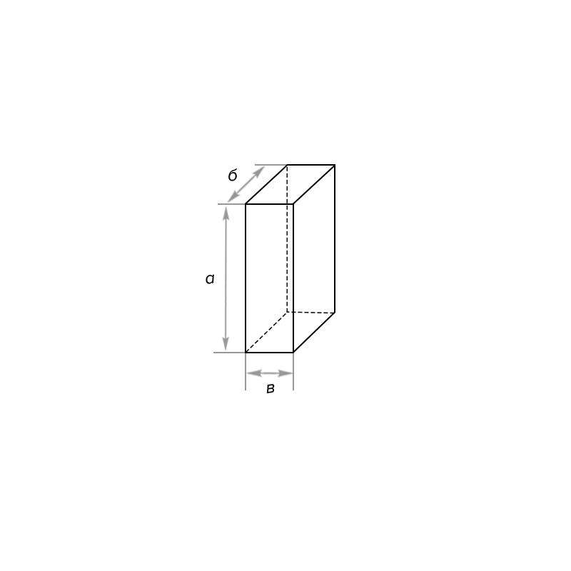 Кирпич шамотный прямой трехчетвертной