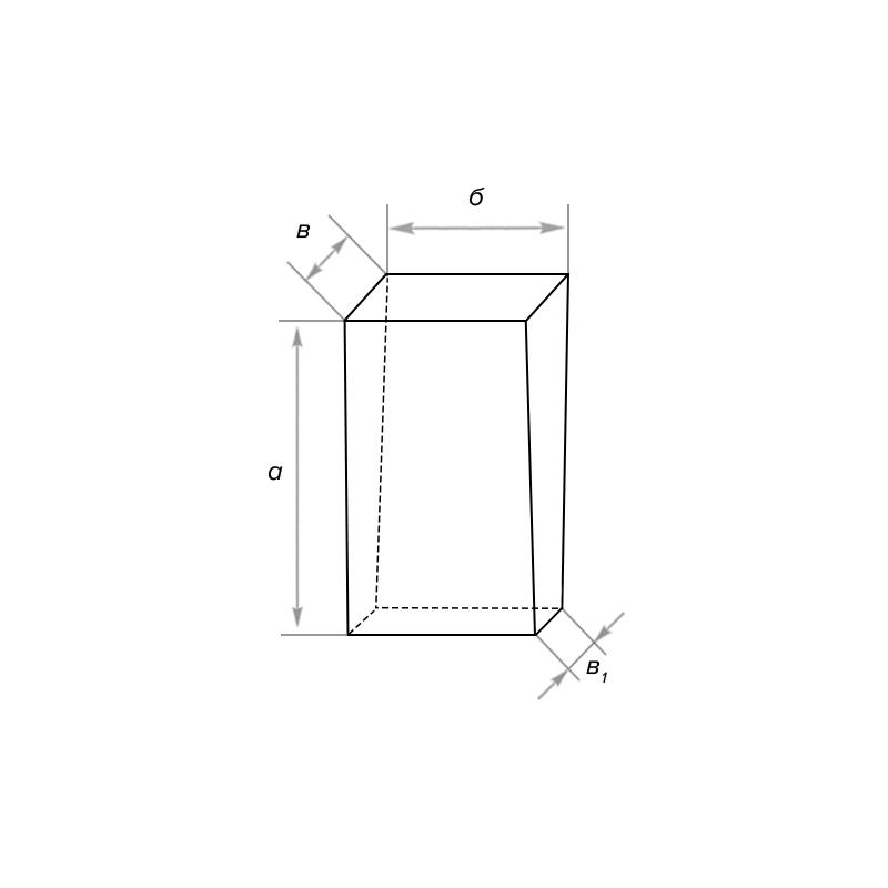 Кирпич периклазовый торцевой двухсторонний клиновой
