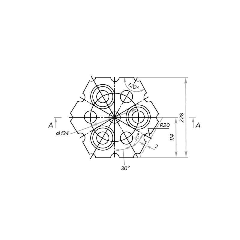 Кирпич насадочный шестигранный