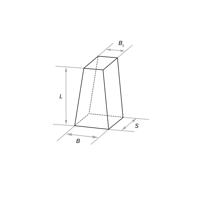Клин переходный (радиальный) двухсторонний