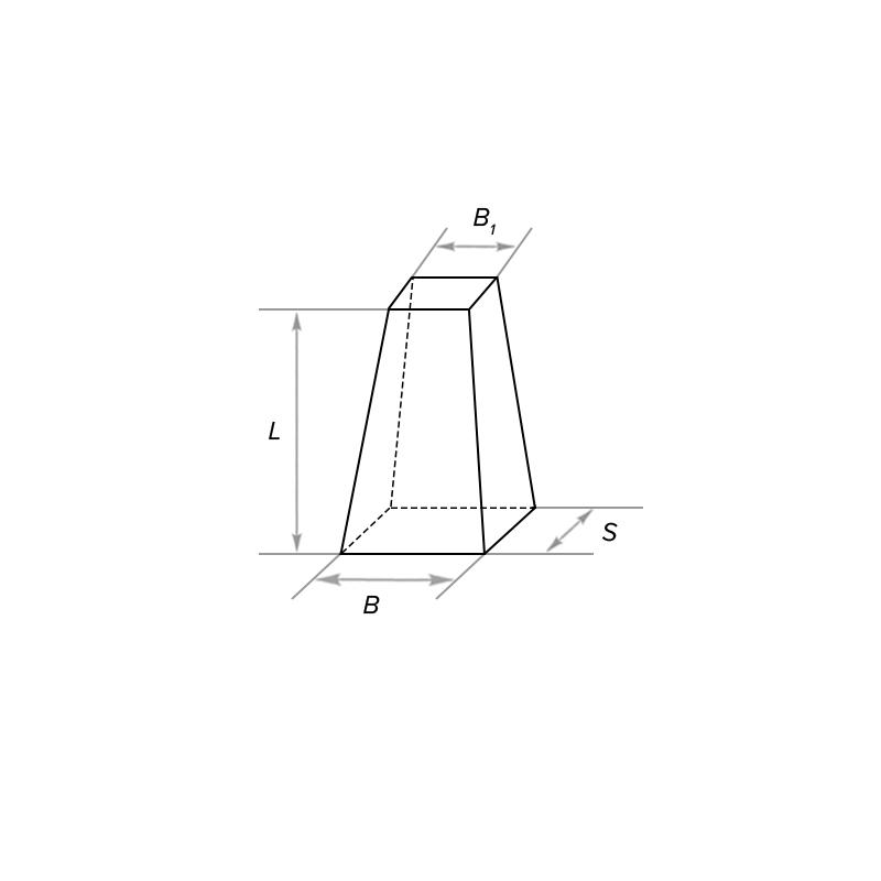Клин пирамидальный двухсторонний